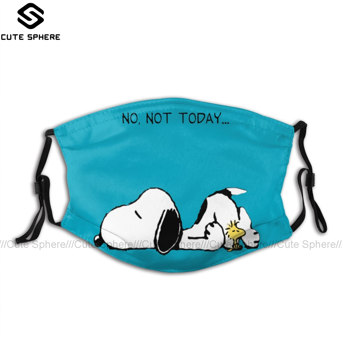 Peanuts Mouth Face Mask No Not Today Facial Mask Fashion Funny With 2 Filters For Adult