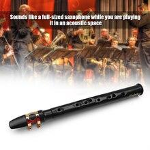 Muslady черный Мини карманный саксофон портативный маленький саксофон с черной сумкой для переноски духовой инструмент