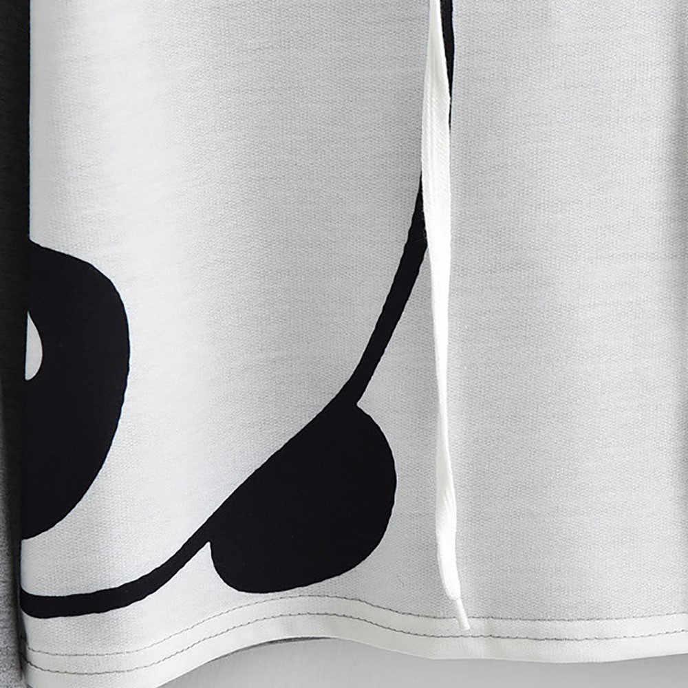 Moda felpa con cappuccio da donna 2019 Della Ragazza Animal Print Manica Lunga Con Cappuccio Crop Magliette e camicette Pullover Felpa Magliette e camicette poleron mujer A4