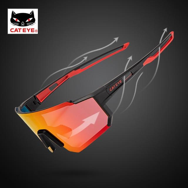 Cateye ciclismo óculos polarizados photochromic bicicleta esporte polaroid óculos de sol estrada mtb caminhadas com lente míope 2020novo 2