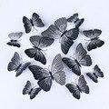 12 шт. ПВХ 3d бабочка Настенный декор милые бабочки наклейки на стену художественные наклейки украшение для дома Декор для комнаты настенное ...