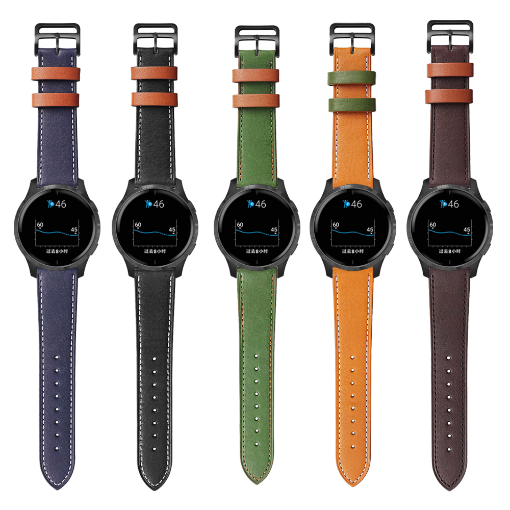 Watchband For Garmin Venu GarminActive GarminMove 3 Style Vivoactive3 Watch Band Leather Strap Replacement Accessories Bracelet