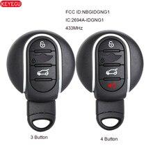 KEYECU Aftermarket Smart Remote Car Key Fob 3B /4 Button 433MHz for BMW MINI Cooper 2013-