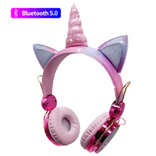Headsets Tablet Cellphones Microphone-Earphone with for Boys Kids Daughter Unicorn PC