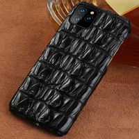 100% Genuine Crocodile Leather Phone Case For Apple iphone 11 11 Pro 11 Pro Max XR X XS Max 6 7 8 8 Plus 6S Luxury Marvel Cover