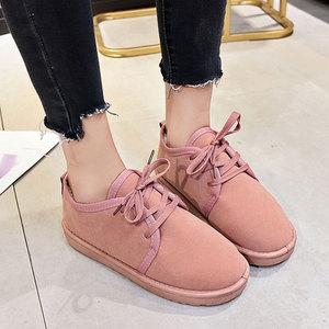 Image 4 - NKAVQI ใหม่ฤดูหนาวรองเท้าผู้หญิงแบนรองเท้าหิมะรองเท้าหนังนิ่มผู้หญิง Plush พื้นรองเท้า Botas Mujer ขนสัตว์รองเท้าสบายๆ