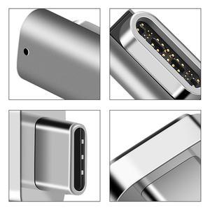 Image 5 - Adaptador magnético usb c de 24 pinos para usb c 3.1, conversor suporte adaptador 100w pd, vídeo 5k de dados 40eur/s para dispositivo mais tipo c