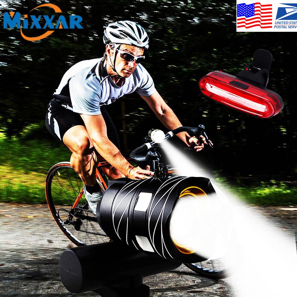 Dropshipping Novelty Lighting Rechargeable Bike Light Super Bright Cycling Lights Taillight Mult-Mode Fits All Bicycles