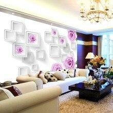 Dropship Custom Size Photo 3D Large Mural Modern Minimalist TV Background Wall B