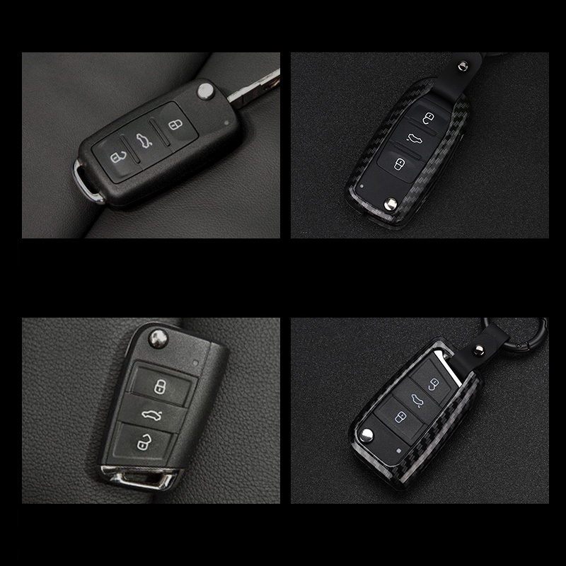 lsrtw2017 carbon fiber Zinc alloy car key case for volkswagen tiguan t roc vw sharan touran touareg golf jetta mk6 polo Scirocco in Interior Mouldings from Automobiles Motorcycles