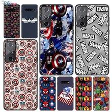 רך כיסוי קפטן אמריקה מארוול עבור Samsung Galaxy S21 S20 FE Ultra S10 S10e לייט S9 S8 S7 קצה בתוספת טלפון מקרה