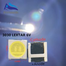 1000pcs Lextar LED Backlight High Power LED 1.8W 3030 6V Cool white 150 187LM PT30W45 V1 TV Application 3030 smd led diode