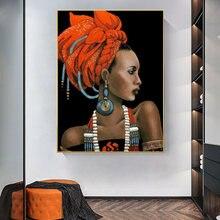 Черная женщина с красной шляпой картина маслом на холсте Куадрос