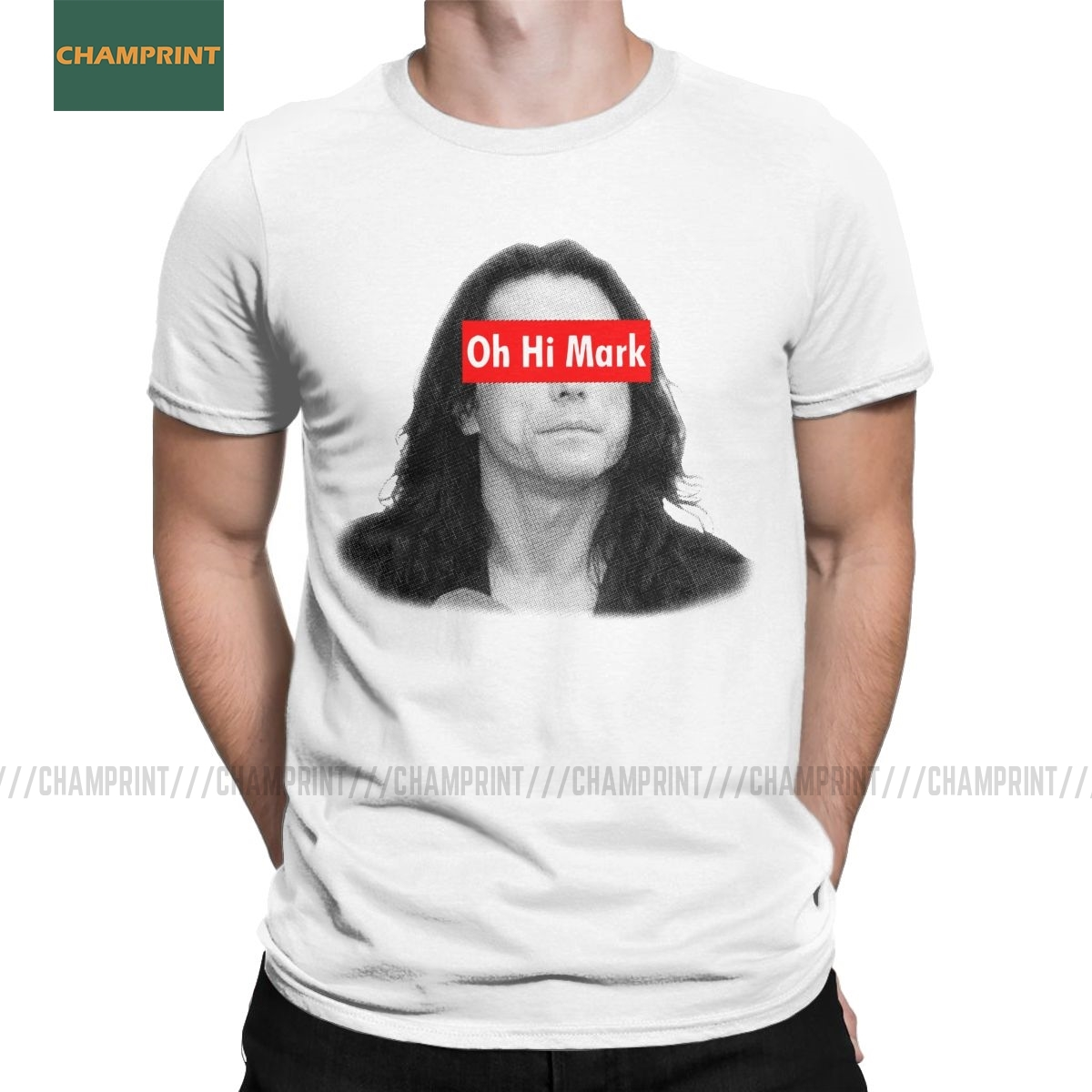 Oh Hi Mark The Disaster Artist T-Shirts Men Cotton T Shirts The Room Tommy Wiseau Hi Mark Short Sleeve Tee Shirt Printed Tops