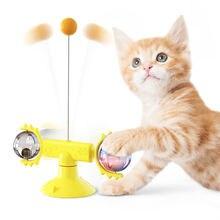 Ветряная мельница игрушка для кошек поворотная палочка пазл