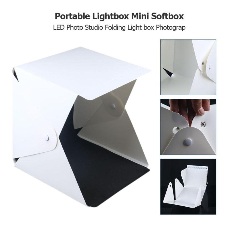 Portable LED Light Photography Softbox Studio Lightbox 20cm Mini Photo Light Box Background Kit for Shooting Jewelry Watch Toys|Tabletop Shooting| |  - title=