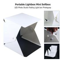 Portable LED Photography Softbox Studio Lightbox 20cm Mini Photo Background Kit Suitable for Shooting Jewelry Watch Toys цена и фото