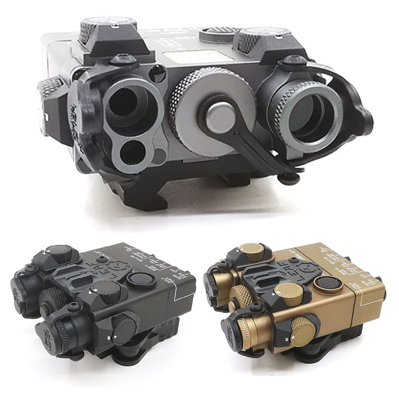 Tactical fleshlight DBAL-<font><b>A2</b></font> IR weapon <font><b>light</b></font>+Red laser+laser IR Lenses with Remote Switch Hunting Rifle Airsoft Battery <font><b>Box</b></font> image