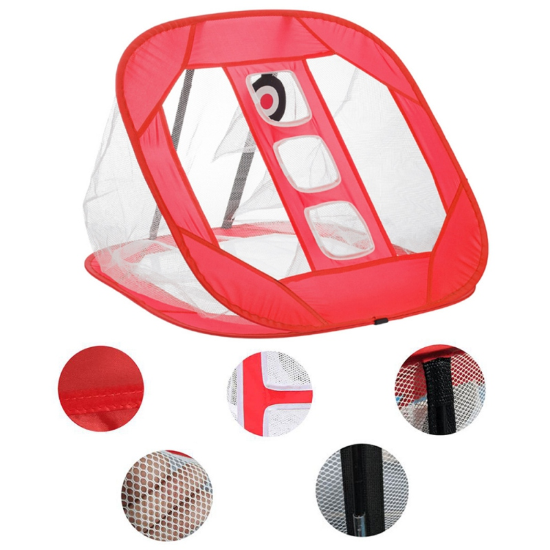 Купить с кэшбэком Nylon 3Colors Golf Practice Net Indoor Outdoor Chipping Pitching Cages Portable Golf Practice Training Aids Mats DropShipping
