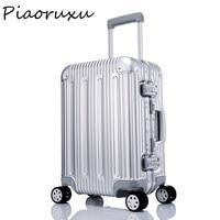 "100% aluminium magnesium legierung Gepäck Hardside Roll Trolley Gepäck reise Koffer 20 ""26"" 29 zoll Tragen auf Gepäck überprüft"