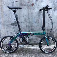 Bicicleta plegable YNHON 14 16 pulgadas exterior 3 velocidades 5 velocidades marcha única V freno 412 Fnhon Litepro Urban Commuter bicicleta Retro ocio BMX
