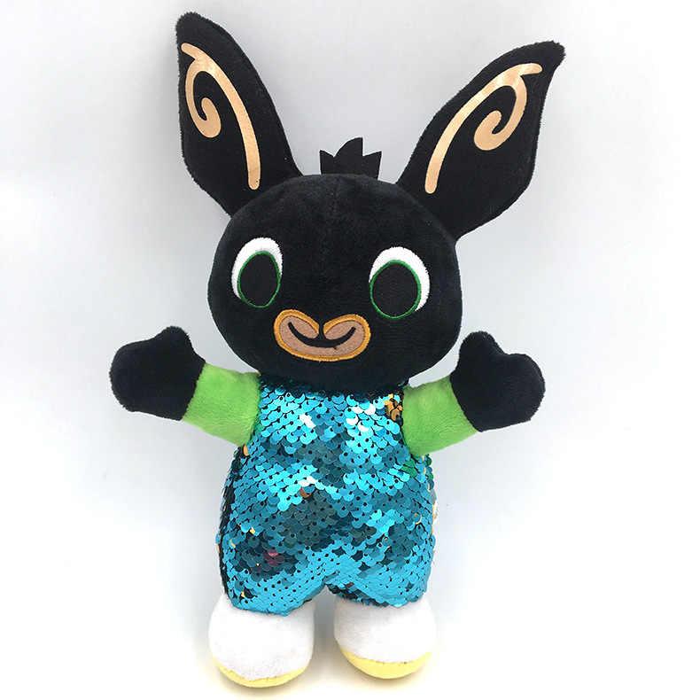 2019 جديد 30 سنتيمتر Bing Bunny الترتر البريق أرنب محشوة بحشوة ناعمة على شكل حيوانات سولا فلوب Hoppity Voosh دمى Peluche طفل هدية عيد ميلاد