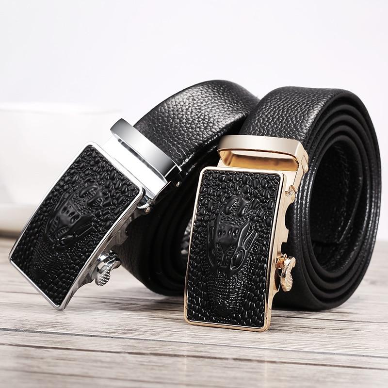 Кожаный ремень мужские из натуральной кожи автоматические пряжки подростка корейский стиль крутой тренд Пояс для брюк