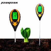 4 en 1 PH mètre testeur de sol moniteur d'humidité du sol lumière du soleil testeurs de température acidité alcali mesure outil pour jardinage plante 20% de réduction