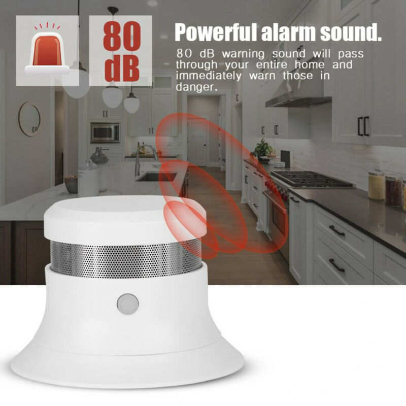 Wireless Photoelectric Smoke Detector Fire Alarm Sensor System Cordless Optical Acoustic Alarm Home Security