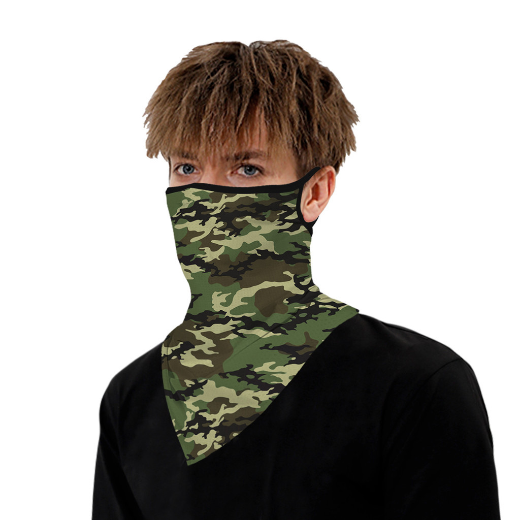 Outdoor Camouflage Print Seamless Ear Face Cover Sports Washable Scarf Neck Tube Face Dust Riding Facemask Outdoor Camouflage Print Seamless Ear Face Cover Sports Washable Scarf Neck Tube Face Dust Riding Facemask Windproof Bandana