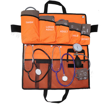 6 sizes Single blood pressure cuff , with Pressure display Gauge with PVC ball  Dual Head Stethoscop portable packed bag kits.