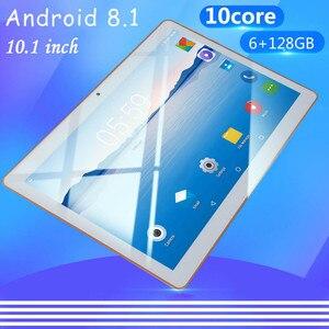 4G LTE телефонный звонок 10,1 дюймов Android 8,0 планшетный ПК 8 ГБ ОЗУ 128 Гб ПЗУ 8000 мАч аккумулятор IPS экран HD 1280x800 WiFi планшет