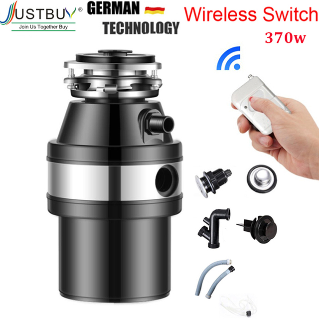 370W Food Garbage Disposal Crusher waste disposers Stainless steel Grinder kitchen appliances Germany technology