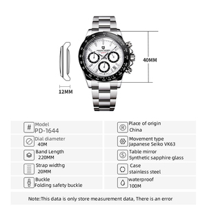 Image 5 - Pagani Ontwerp 2020 Nieuwe Mannen Horloges Quartz Bedrijvengids Horloge Heren Horloges Top Brand Luxe Horloge Mannen Chronograph VK63 Reloj hombre