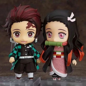 10 cm Q.ver Kimetsu no Yaiba Kamado Nezuko Tanjirou PVC Action Figure 2 Face 1194 Nezuko Anime Demon Slayer Figurine Toys