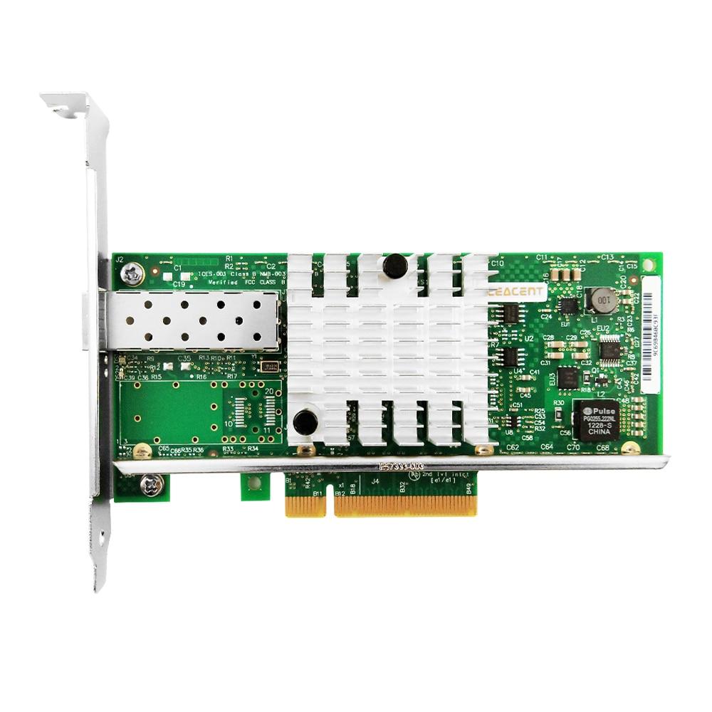 CEACENT AN8599-DF1 10Gigabit Network Card PCIe2.0 X8 Chipset Intel 82599ES LC-Fibre SMF*1/LR Single Port X520-DA1