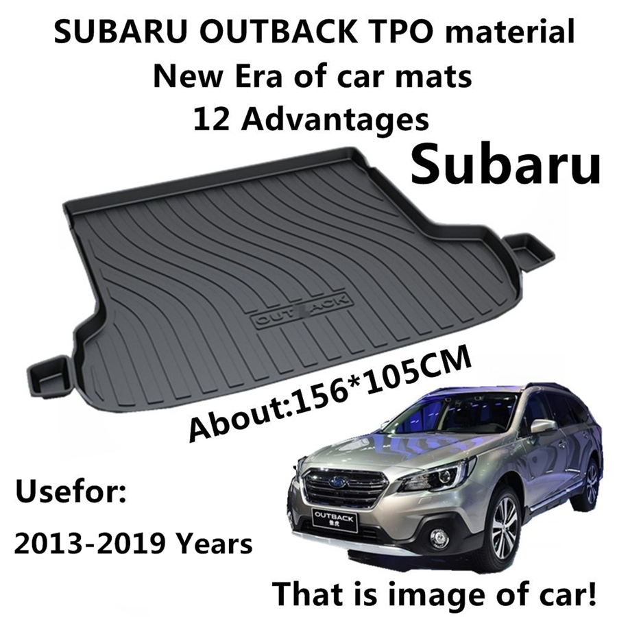 YJ99 Custom Fit For Subaru Outback 2013 2014-16 17 18 2019 TPO Car Cargo Rear Trunk Mat Boot Liner Tray All Weather Waterproof