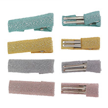 50pcs/lot 35mm Metal & Cloth Clip Crocodile Duckbill With Teeth Alligator Clips For DIY hair clips Jewelry accessories