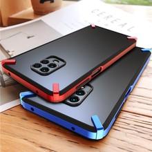 Dla Funda Xiaomi Redmi Note 9 Pro Etui na Etui Redmi Note 9S Etui na telefon Xioami luksusowe twarde zderzak Silky 360 pełna tylna okładka mężczyźni
