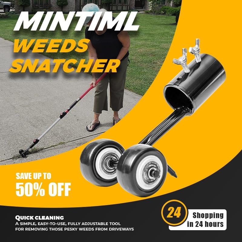 Mintiml Weeds Snatcher Lawn Mower Weeding Head Steel Garden Weed Razors Lawn Mower Garden Grass Trimming Machine Brush Cutter