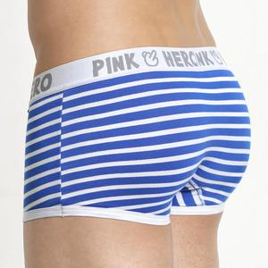 Image 2 - Hot 5pcs/Lot Pink Heroes High Quality Cotton Underwear Men Boxer Shorts Classic Striped Male Underpants Comfortable U bag