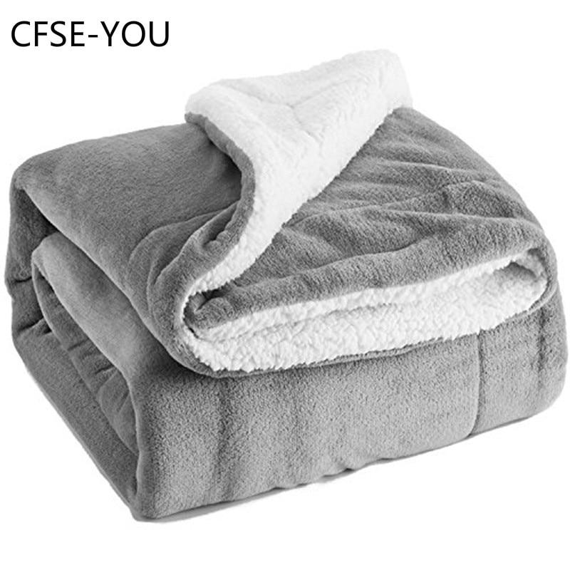 CFSE-YOU Sherpa Lambskin Blanket Thick Double-layer Flannel Blanket  Wool Blanket  Blanket  Weighted Blanket