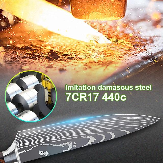 Набор кухонных ножей 7CR17 440C 4