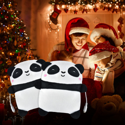 1Pair USB Panda Shape Warm Gloves Heated Hand Warmer Heating Half Finger Winter Warm Gloves For Office Christmas Gift