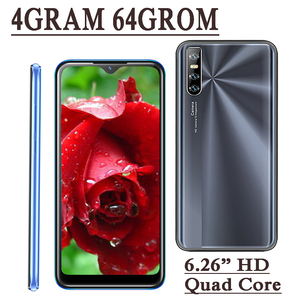 64GB ROM 4GB RAM Smartphones 9C Quad Core 13MP HD Face ID 6.26 Inch Water Drop Screen Unlocked Celulares Android Mobile Phone