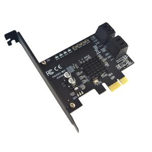 Плата PCI-E SATA, 1X плата PCI Express на SATA 3,0, 2 порта, 4 порта, 6 портов, плата расширения SATA III 6 Гбит/с, плата расширения