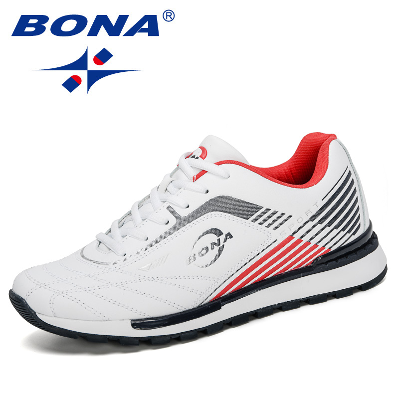 BONA 2020 New Designers Cow Split Running Shoes Men Trendy Sneakers Outdoor Athletic Shoes Professional Training Shoes Zapatills