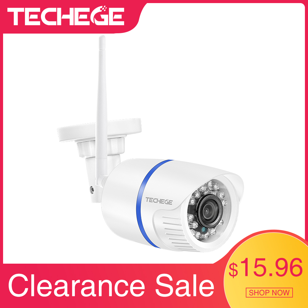 Techege Yoosee HD 720P Wifi Camera Outdoor Waterproof Night Vision Wired Wireless Security Video Surveillance Camera SD Card