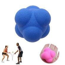 5.5cm bola de reação hexagonal silicone agilidade coordenação reflex exercício esportes fitness formação bola