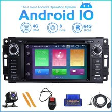 ZLTOOPAI Auto Multimedia Player Android 10,0 Für Dodge Ram Challenger Jeep Wrangler JK Auto GPS Auto Radio Stereo DVD Player SWC